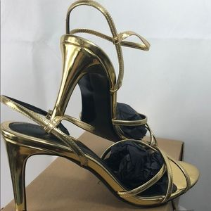 Zara basic gold heels. New in box. Gorgeous shoes!